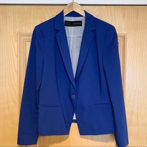 ZARA Basic Cobalt Blue Women's Blazer
